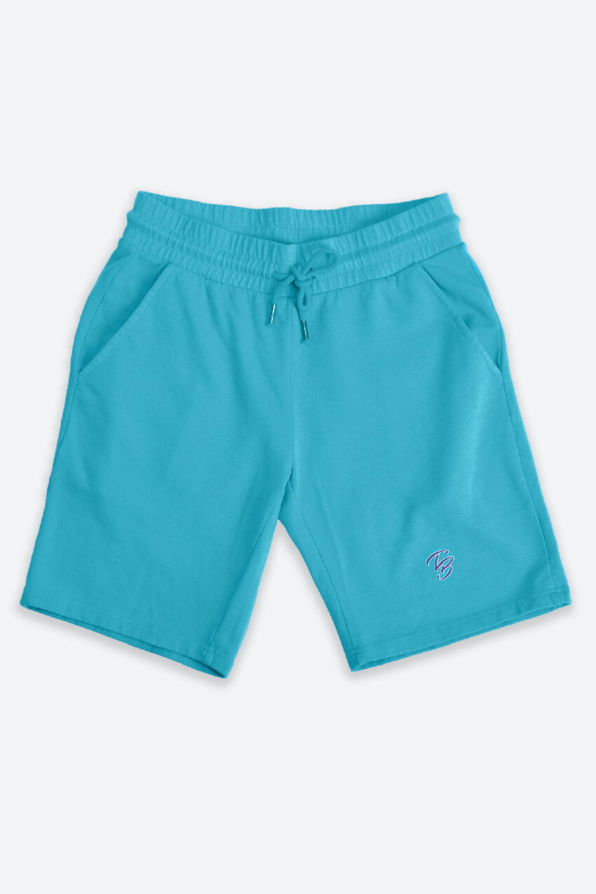 French Terry Bermuda Shorts Turquoise