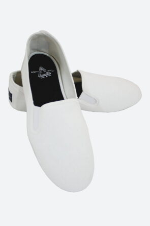Canvas Casual Slip-On Shoes Cream