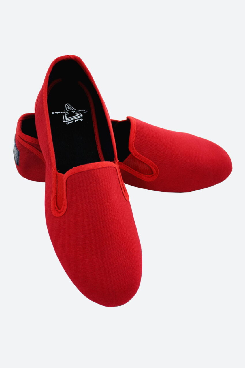 Canvas Casual Slip-On Shoes Red