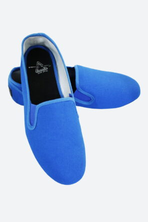 Canvas Casual Slip-On Shoes Azure