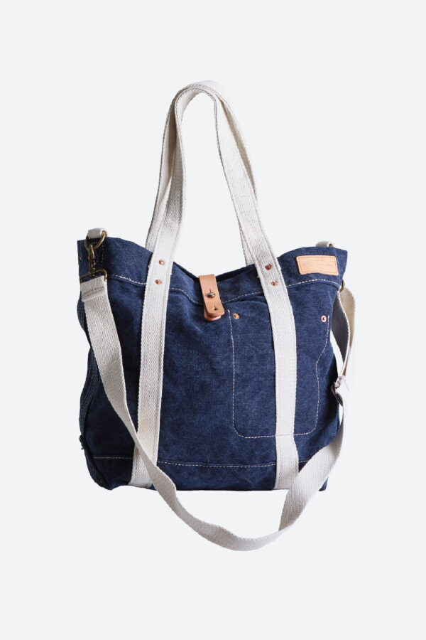 Grand Sac fourre-tout Canvas Bleu Royal