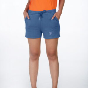 French Terry Mid-Length Shorts Jean