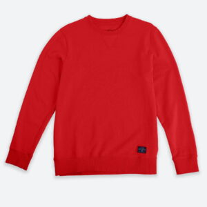 French Terry Crewneck Sweater Coral