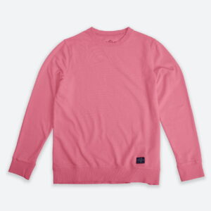 French Terry Crewneck Sweater Pink