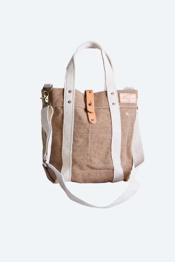 Sac Tote Vintage Canvas Marron