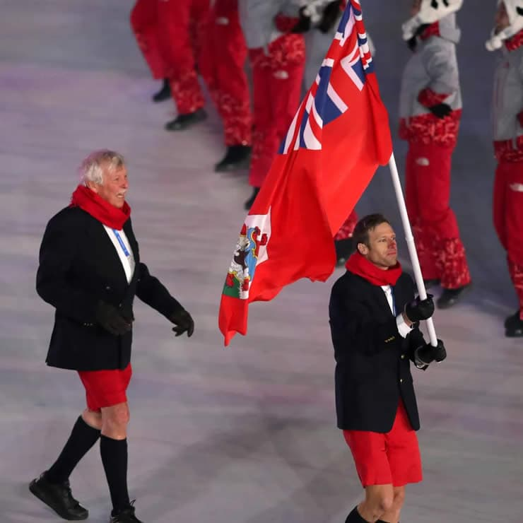 Red Bermuda Shorts during Olympic Games 2018